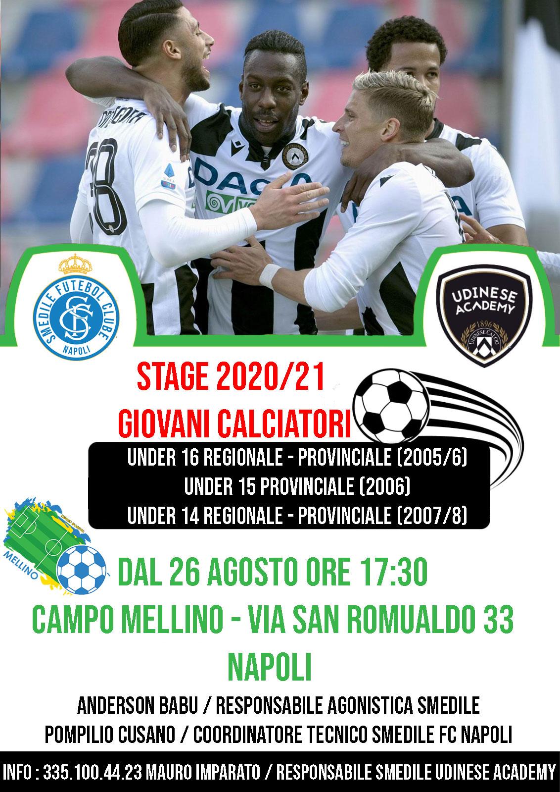 STAGE 2020/21 – CENTRO SPORTIVO MELLINO