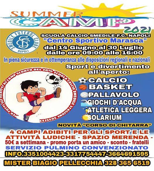 SUMMER CAMP 2021 TARGATO SMEDILE FC NAPOLI